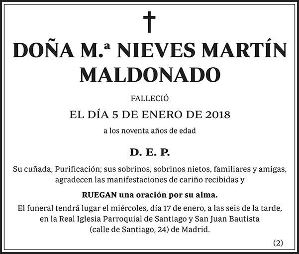 M.ª Nieves Martín Maldonado